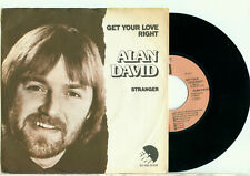 "ALAN DAVID (UK) Get Your Love Right (1977 DUTCH PS NEAR MINT VINYL SINGLE 7"")"