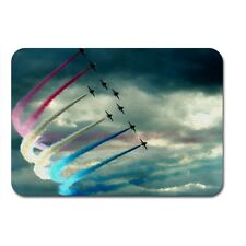air show turbine with smoke  plane Textile Mouse Mat