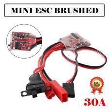 30A Mini ESC Brushed Brush Speed Controller RC Car Truck Boat Reverse 1/16 1/18