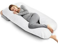 AngQi Pregnancy Pillow with Jersey Cover, U Shaped Full Body Pillow for Pregnant