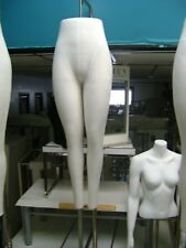 Urban Industrial White Fabric Dress Form Mannequin Legs With Chrome Base
