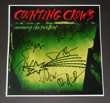COUNTING CROWS BAND SIGNED 12X12 RECOVERING THE SATELLITES ALBUM FLAT DURITZ 7