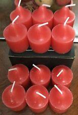 Partylite 1 Dozen Strawberry Surrender Votives Forbidden Fruits Scent Bn Scent