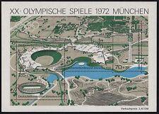DV 591b) BRD Mi# 723-26 in Bl 7 Olympia (V): Olympiastadion München Velodrom ..