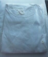 COTONE egiziano Bianco T Shirt Taglia mnew con cellophane pacchetto 3.75