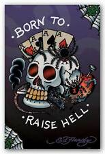 TATTOO POSTER Ed Hardy Born To Raise Hell