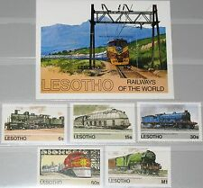 LESOTHO 1984 484-88 Block 23 453-458 Trains Züge Eisenbahn Railway Locomotives**