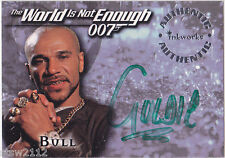JAMES BOND THE WORLD IS NOT ENOUGH A6 GOLDIE BULL TWINE AUTOGRAPH