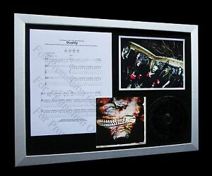 SLIPKNOT Duality LIMITED Numbered CD FRAMED DISPLAY+EXPRESS GLOBAL SHIPPING!!
