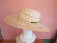 Ladies  Wide Brim Panama Style Straw hat with chin strap M - L  Mexico