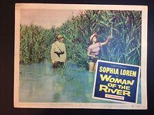 "11"" x 14"" ""WOMAN OF THE RIVER""  SOPHIA LOREN 1957 THEATER FILM PROMO LOBBY CARD"