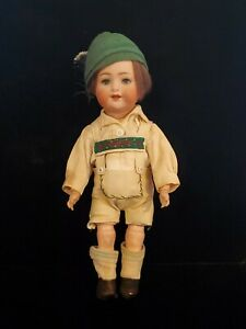 """Antique German 12"""" Ball Jointed Doll Bisque Head wooden Body Early 1900's"""