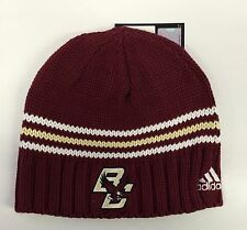 Boston College Eagles ADIDAS Knit Beanie Toque Skull Winter Hat NEW Red Maroon