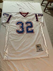 OJ Simpson 1976 Buffalo Bills Throwback Jersey -Mitchell & Ness - Size 54 - VG