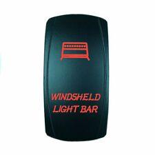 UNIVERSAL LASER ROCKER SWITCH 12V LED WINDSHIELD LIGHTS RED