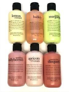 Set of 6 Philosophy Shampoo & Shower Gel 6oz Variety Set SEALED