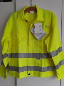 Herren Regenjacke Wasserdicht Arbeitsjacke Warnschutzjacke Warnjacke Windbreaker
