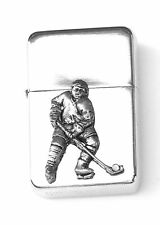 Ice Hockey P Emblem Windproof Petrol Cigarette Lighter FREE ENGRAVING Gift