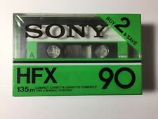 2- Sony HFX 90 Blank Audio Cassette Tape Normal Bias Type I HFX-90 - NEW SEALED