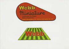Webb Miniature Late Model Vintage Children's Mower Decals