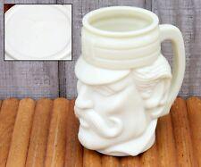 BIG Vintage Coffee Mug Cup Casey At Bat Mustache Man Face Custard Glass Avon