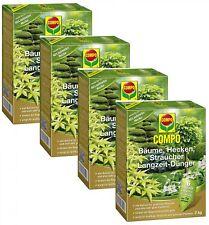 Oleanderhof® Sparset: 4 x COMPO Bäume, Hecken, Sträucher Langzeit-Dünger, 2 kg +
