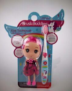 Brush Buddies Girls Kids Mermaids Toothbrush with Pink Fashion Doll