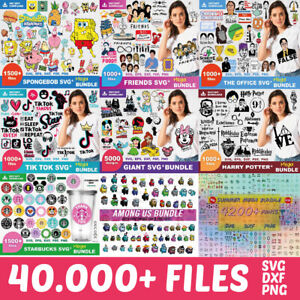 40.000 Mega Pack Bundle SVG PNG DXF Cricut, Scanncutt, Cut 20 pack en 1