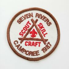 Seven Rivers Camporee 1987 Patch Scout Skill Craft