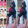 2Pcs Women Tracksuit Set Summer T Shirt Top&Cut Out Shorts Pants Casual Suit