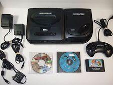 SEGA CD Model 2 System - COMPLETE w/ All Hookups & Sonic Sewer Shark Game lot