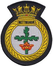 HMS Nottingham Royal Navy RN Surface Fleet Crest MOD Embroidered Patch