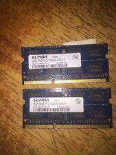 4 GB RAM 2x 2 GB Elpida 2Rx8 PC3-10600s-9-10-F1- Hp Pavilion, Perfect