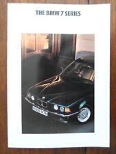 BMW 7 Series 1991 UK Market prestige brochure prospekt 730i 735i 735iL E32