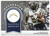 2017 Panini Brand Football Decorated #6 LaDainian Tomlinson Chargers