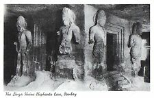Postcard India Bombay The Linga Shrine Elephanta Cave Shiva Mumbai 1930s Unused