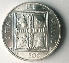1977 VATICAN CITY 500 LIRE - AU/UNC - Low Mintage Silver Coin - Lot #O16