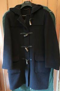 Montgomery Original Duffle Coat Navy Blue, Tartan lining, Size 38