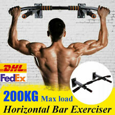 Gym Wall Mounted Pull Up Exercise Bar Heavy Duty Ceiling Chin Up Bar Fitness DHL
