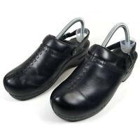 Dansko Womens Size 39 US 8.5-9 Black Adjustable Slingback Straps Clogs Mules