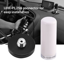 Auto Radio Antenna Dual Band UHF/VHF+Base Magnetica 136-174MHz 400-470MHz