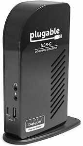 Plugable USB-C Triple Display Docking Station w/ Charging Support Power Delivery