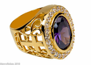 Men's Bishop/Apostle Ring (SUBS974 G-Purple), Clergy, Cross