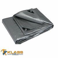 7 x 10 Heavy Duty Silver Tarp Waterproof Tarpaulin Canopy 12mil by KlassTools