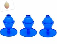 Set of 3 Egg/Oval Shaped Candle Moulds with Base/Stand, UK Made, Craft. S7644