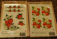 Meyercord Vintage Water Applied Craft Decals Strawberries 6pkgs NOS