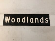 """New Forest Area Linen Bus Blind 60's 29""""- Woodlands"""