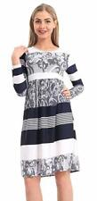 Ladies Jersey Flared Frankie Pleated Foral Printed Midi Dress UK Size 8-26