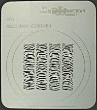 "Gobo template pattern - GAM 390 ""Austrian Curtain"""