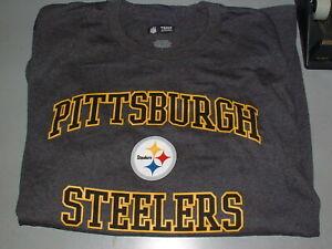 Pittsburgh Steelers Classic Logo Gray Shirt, Mens L, Large, NFL Team Apparel
